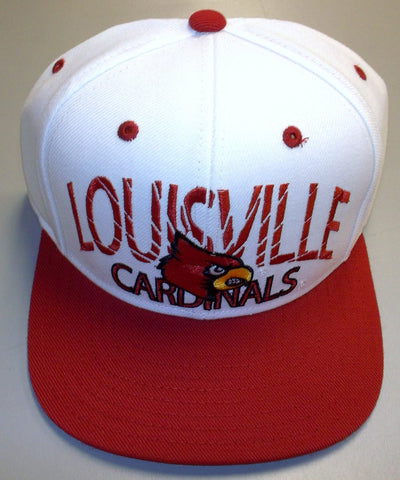 Snapback - NCAA Louisville Cardinals Retro Flat Bill Adidas Hat