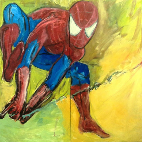 Paul Rolfes 2011 Spiderman Original Oil Painting