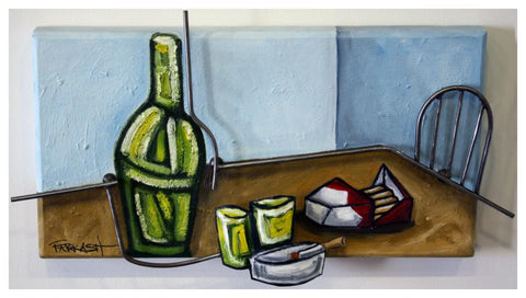 Ken Farkash - 2011 - Still Life With Bottle, Glass And Cigs