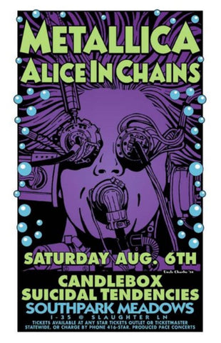 Uncle Charlie - 1994 - Metallica / Alice in Chains Concert Poster
