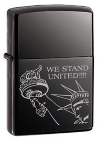 Zippo Lighter - Patriotic - United We Stand (Statue of Liberty)
