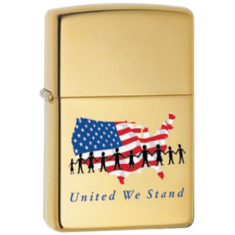 Zippo Lighter - Patriotic - United We Stand
