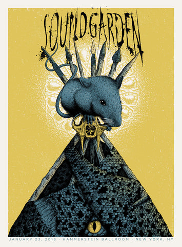 Neal Williams - 2013 Soundgarden - New York Concert Poster
