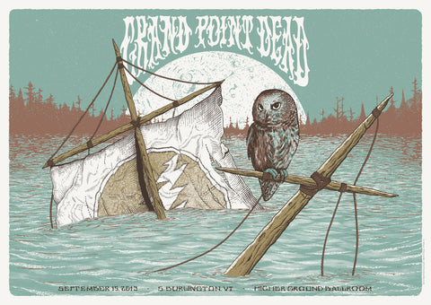 Neal Williams - 2013 Grand Point Dead - Burlington Concert Poster