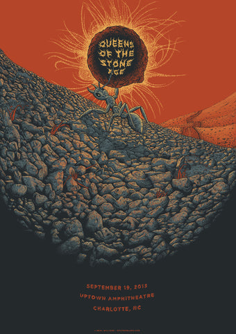 Neal Williams - 2014 Queens of the Stone Age - Charlotte Concert Poster