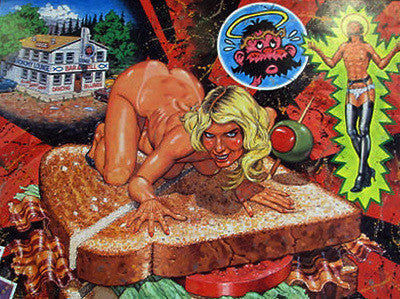 Robert Williams - 1992 - Jezebel on a BLT Poster (Signed)