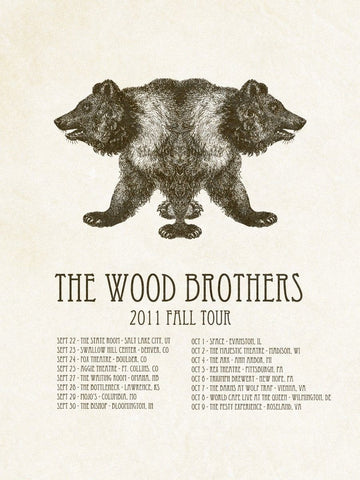 Iron Jaiden - 2011 - The Wood Brothers (Fall Tour II) Concert Poster