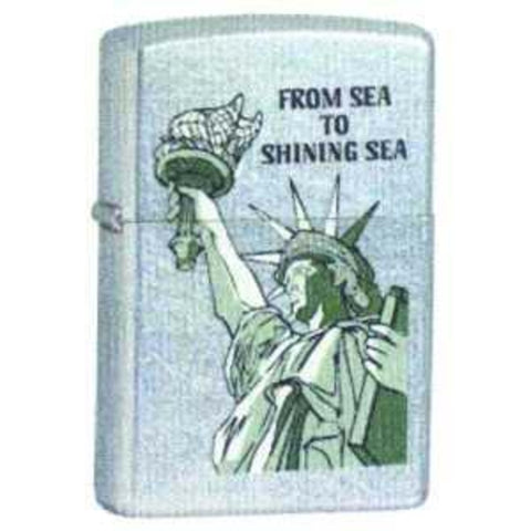 Zippo Lighter - Patriotic - From Sea to Shining Sea