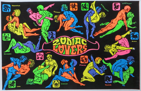 Zodiac Lovers (A) - 1975 - #137 Black Light Poster