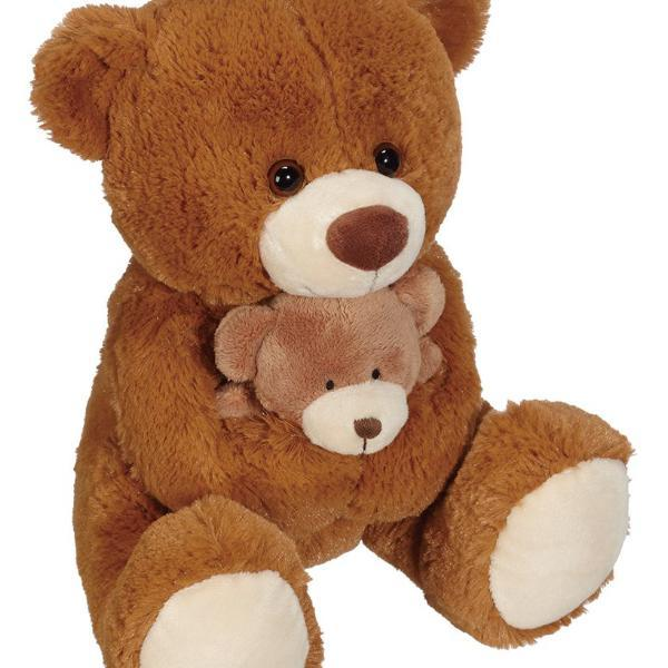 "10"" Brown Bear with Baby - Viva La Rosa"