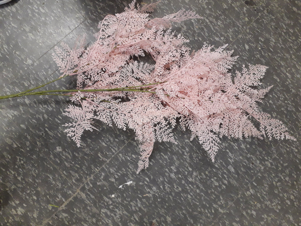 Pink fern single stem filler