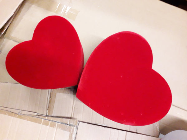 "5"" tall red Heart Shaped box centerpiece For Flowers"