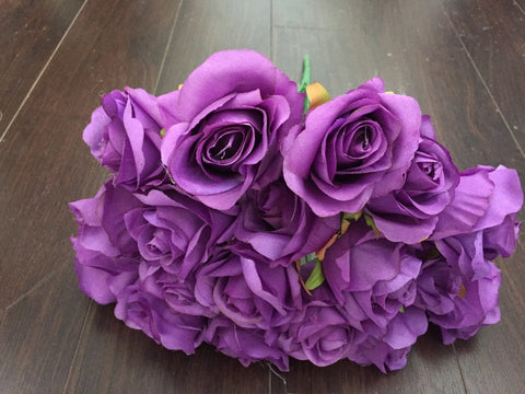 18 HEAD ROSE BUNCH WITHOUT LEAVES IN (Light purple)-579553C3-18H-3 - Viva La Rosa