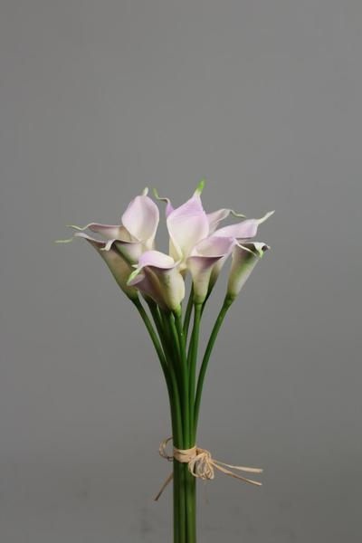 REAL TOUCH CALLA LILY LILIES MINI 12/BUNCH SB112 white