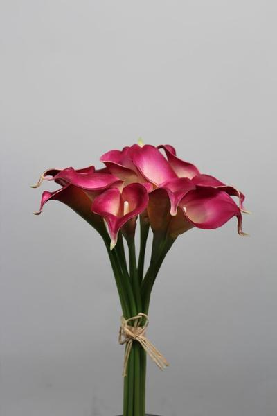 Real touch calla lily Medium wedding decor (Fushia)-SB113FH
