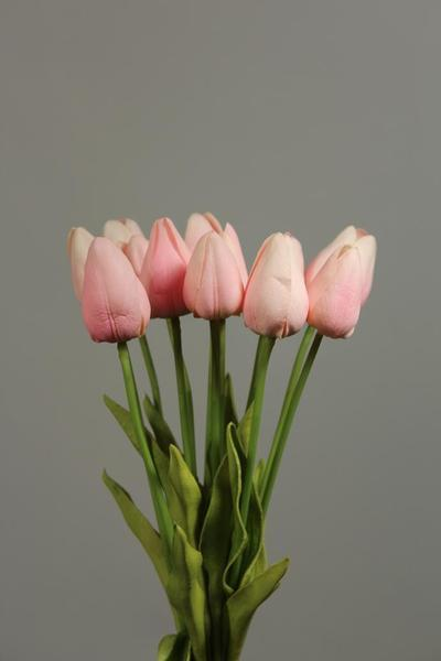 12xReal Touch PU flower Tulip artificial wedding decor Floramatique (Pink)-A85C16D4 - Viva La Rosa