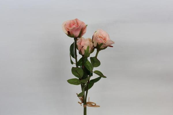 Sweetheart Mini Rose PU Material (3/bunch) Real Touch Artificial SB051 (Pink)-B67E1758