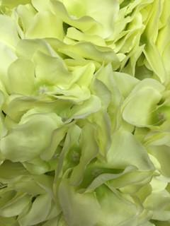 Artificial Flower Green Hydrangea Bunch 7 head silk - Viva La Rosa