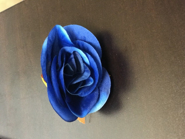 12xARTIFICIAL FLOWER HEAD WEDDING DECOR ROSE FLOWER (royal blue)-98570745 - Viva La Rosa
