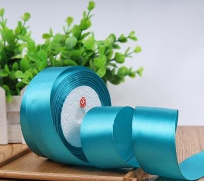 "Satin ribbon roll( 3.8-4 cm/1.5"" wide) (Tiffany blue)-C8D13AC9"