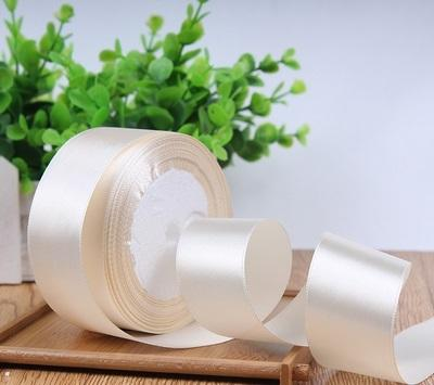 "Satin ribbon roll( 3.8-4 cm/1.5"" wide) (White)- C8D13AC13"
