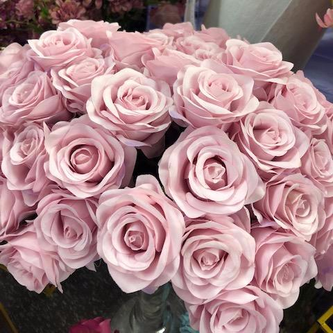 Artificial Flower Rose Bunch with leaf 18 head (Blush Pink) - Viva La Rosa
