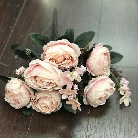 Yummy Close Head Roses Artificial Flower (blush pink) -YUM2