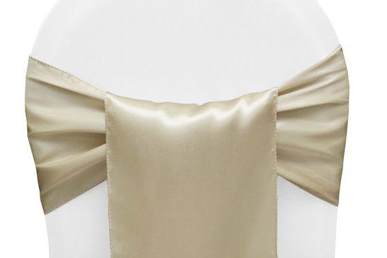 "Satin chair sash 12""X108"" (Cream)- SAS2"