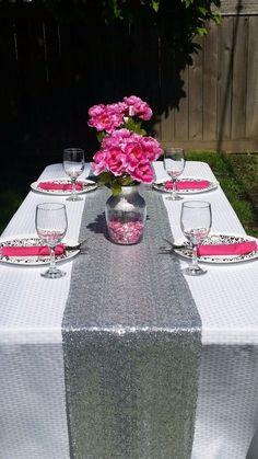 Sequin Table Runner 12X108 (Silver)-SEQ1