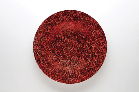 "13"" Glass Charge Plate (Red) CHARG5 - Viva La Rosa"