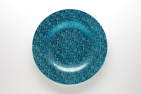 "13"" Glass Charge Plate (Blue) CHARG4 - Viva La Rosa"