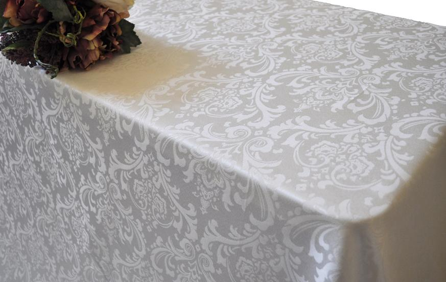 "Damask Table cloth round 120"" various colours and prints - Viva La Rosa"