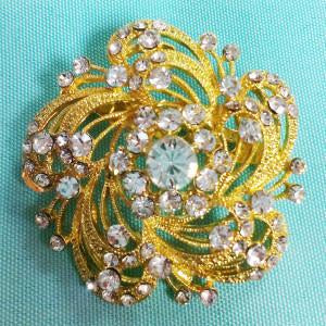 Gold Diamond Brooch - Richview Glass Wedding Supplies