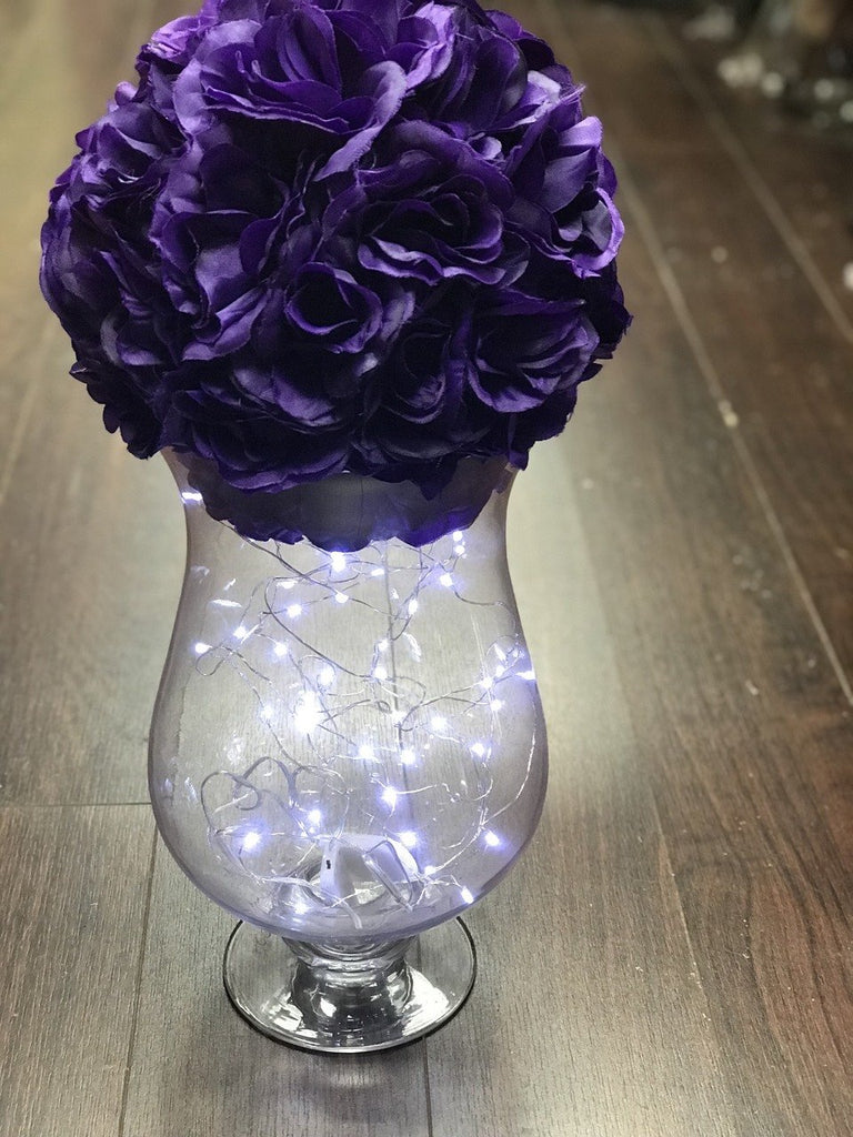 "WEDDING CENTREPIECE 12"" HURRICANE VASE"