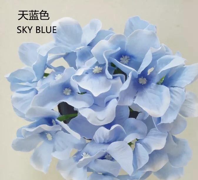 light blue hydrangea head