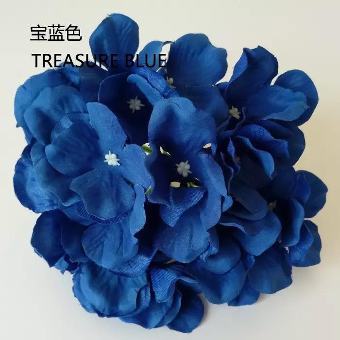 Dark/Royal Blue HYDEANGEA FLOWER ARTIFICIAL FLOWER HEAD WEDDING DECOR - Viva La Rosa
