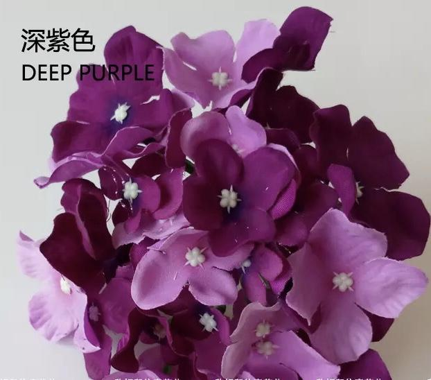 Mixed Purple HYDEANGEA FLOWER ARTIFICIAL FLOWER HEAD WEDDING DECOR