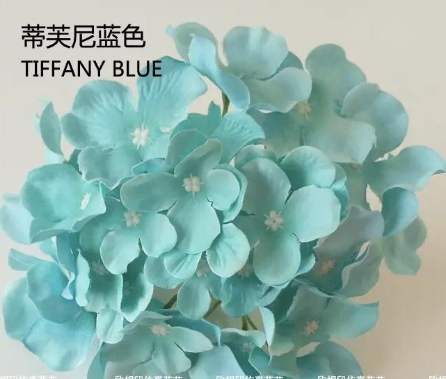 Tiffany blue HYDEANGEA FLOWER ARTIFICIAL FLOWER HEAD WEDDING DECOR