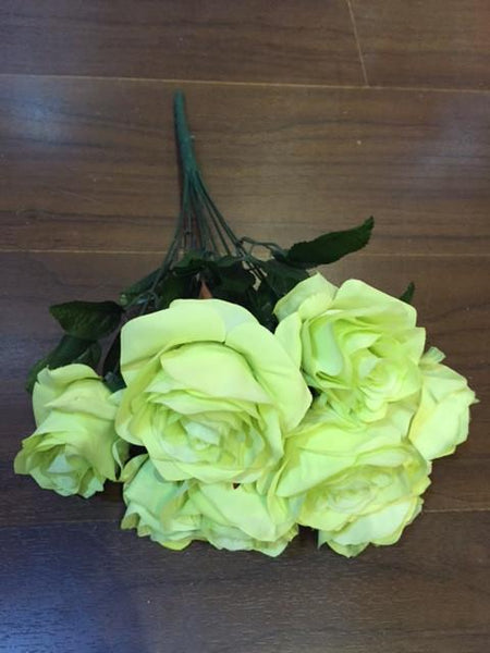 Cream Artificial Diamond Rose Bunch 10 head - Viva La Rosa