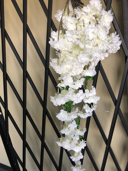 Artificial Cherry Blossom Hanging White wedding decoration silk fake flower - Viva La Rosa