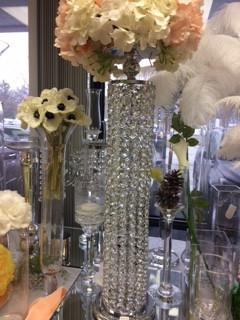Gold/Silver Crystal Candelabra/Stand (Silver) GOL1-7 - Richview Glass Wedding Supplies