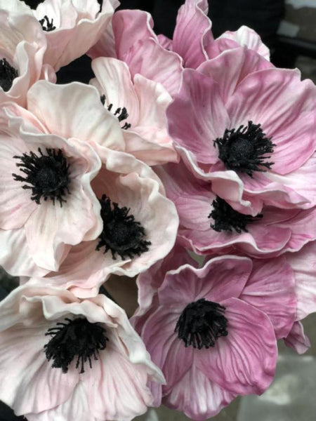 Poppy Black eye Susan bunch 6/bunch PU Material Floramatique Real Touch (Light Pink)-SB221LP