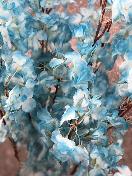Artificial Cherry Blossom Sakura Blue wedding decoration silk fake flower - Viva La Rosa