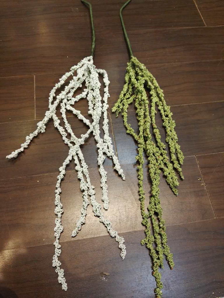 Hanging White Amaranthus for Wedding home decor (Green) HAN1-3 - Richview Glass Wedding Supplies