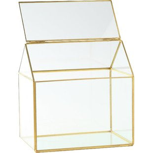 Geometric gold house Terrarium
