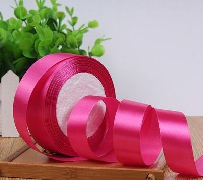 "Satin ribbon roll( 3.8-4 cm/1.5"" wide) (Hot pink)-C8D13AC7"