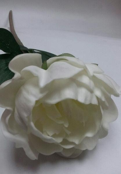 Real Touch Peony Single Stem SB250 (cream) -PEO1