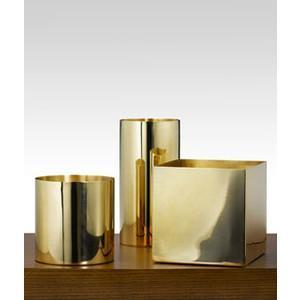 "Gold Solid Wedding Centrepiece 6"" Cube Square Glass Vases - Richview Glass Wedding Supplies"