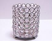 "4X7"" CRYSTAL beaded Candle Holder  - Viva La Rosa"