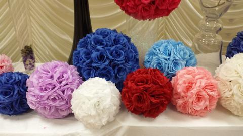 "9"" Flower Balls Rose Ball Kissing Ball - Viva La Rosa"